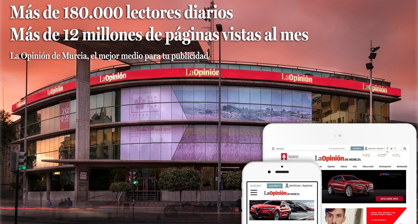 Tarifas y servicios en publicidad web de La Opinión de Murcia